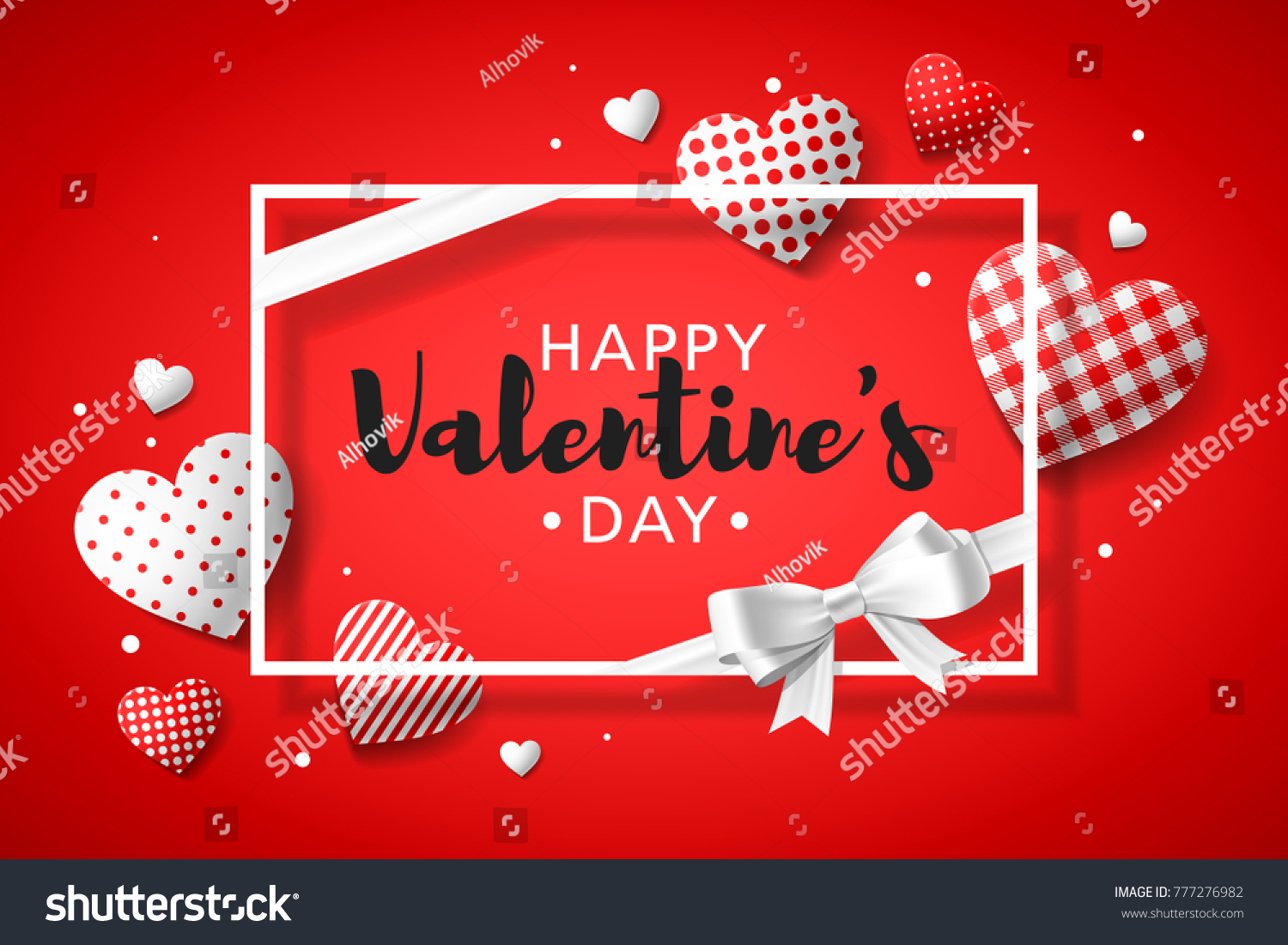 Happy Valentines Day Greeting Card Design Stock Vector Royalty Free