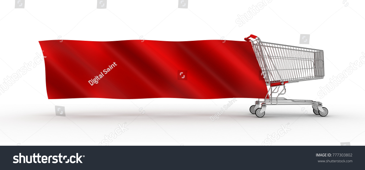 Shopping Cart Banners Golden Round Banners