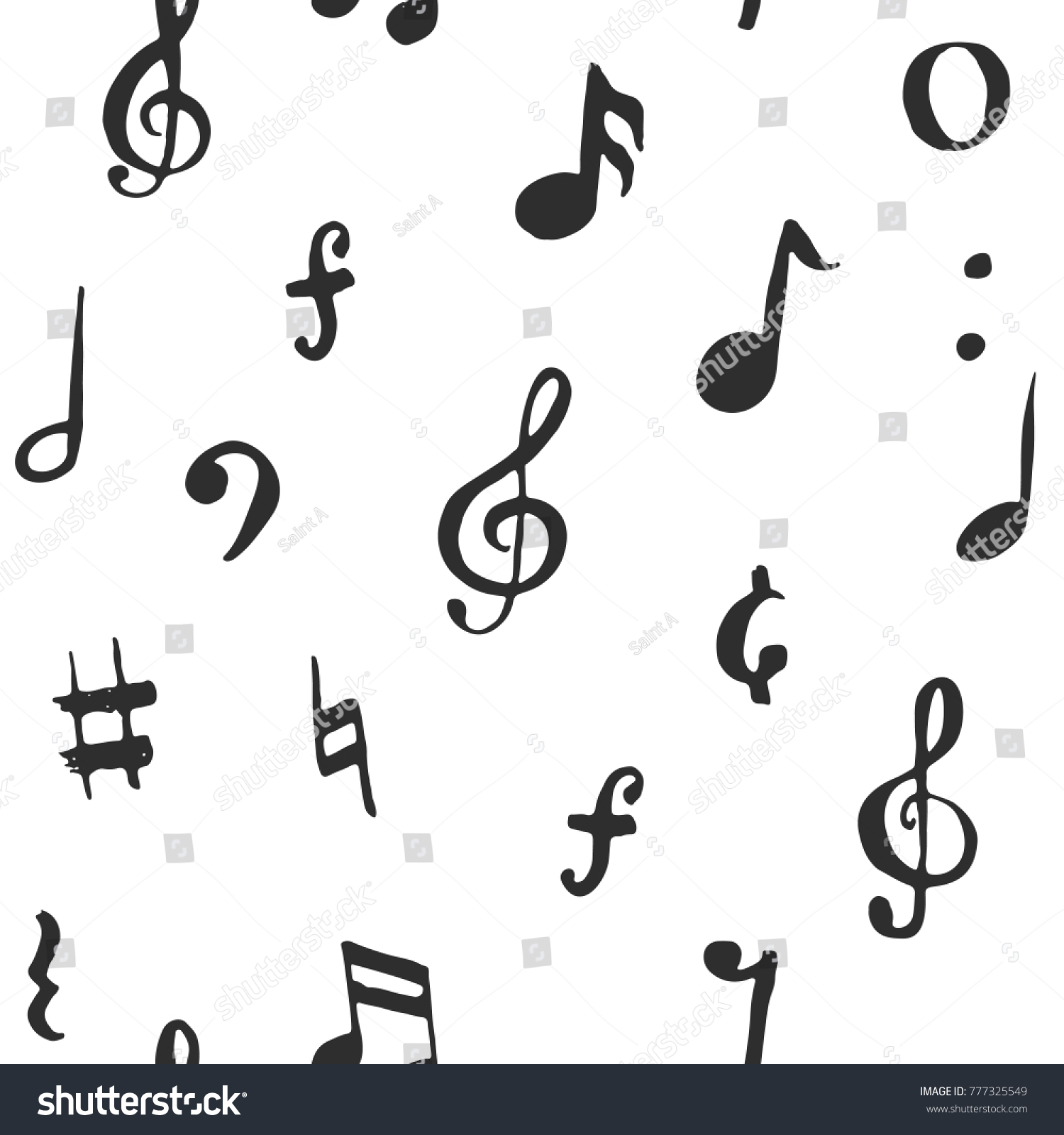 Music note seamless pattern vector illustration stock vector music note seamless pattern vector illustration hand drawn sketched doodle music notes symbols biocorpaavc