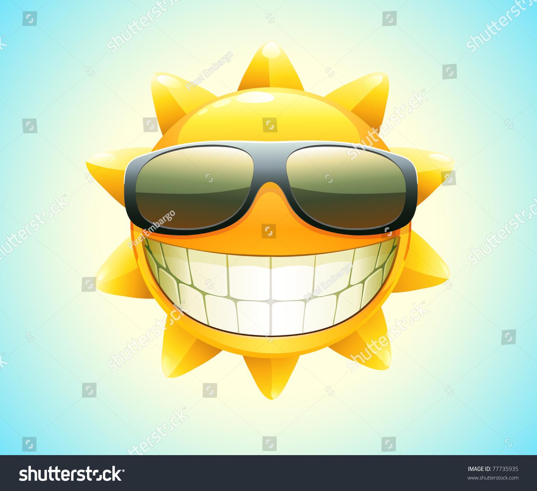Vector Illustration Cool Cartoon Happy Summer Stock Vector 77735935 Shutterstock