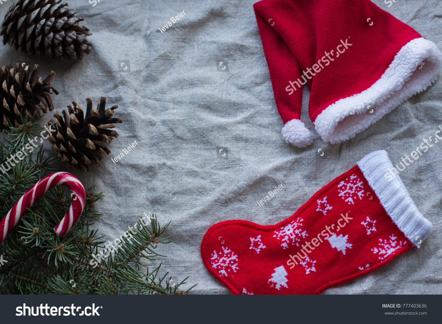 Christmas Tree Candy Cones Gift Sock Stock Photo Edit Now 777403636