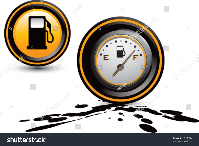 Fuel Pump And Fuel Gauge Stock Vector Illustration 77748025 ...