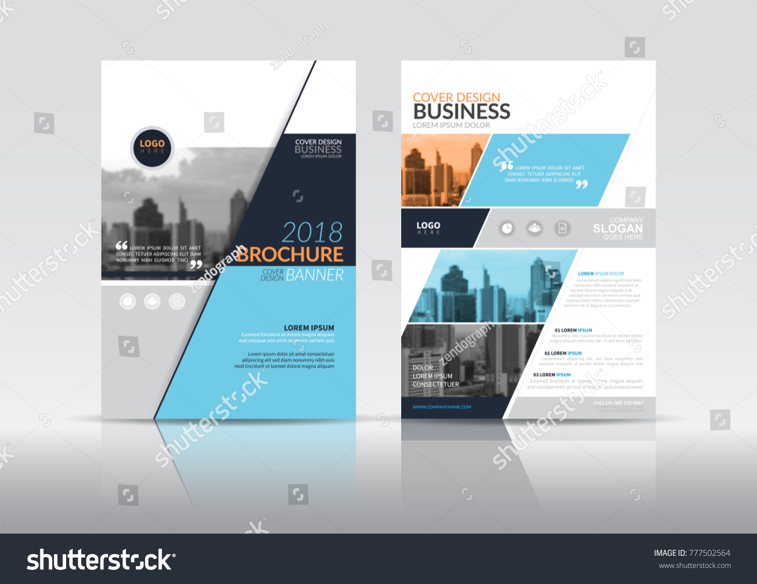 Cover Design Template Annual Report Cover Stock Vector 777502564 ...