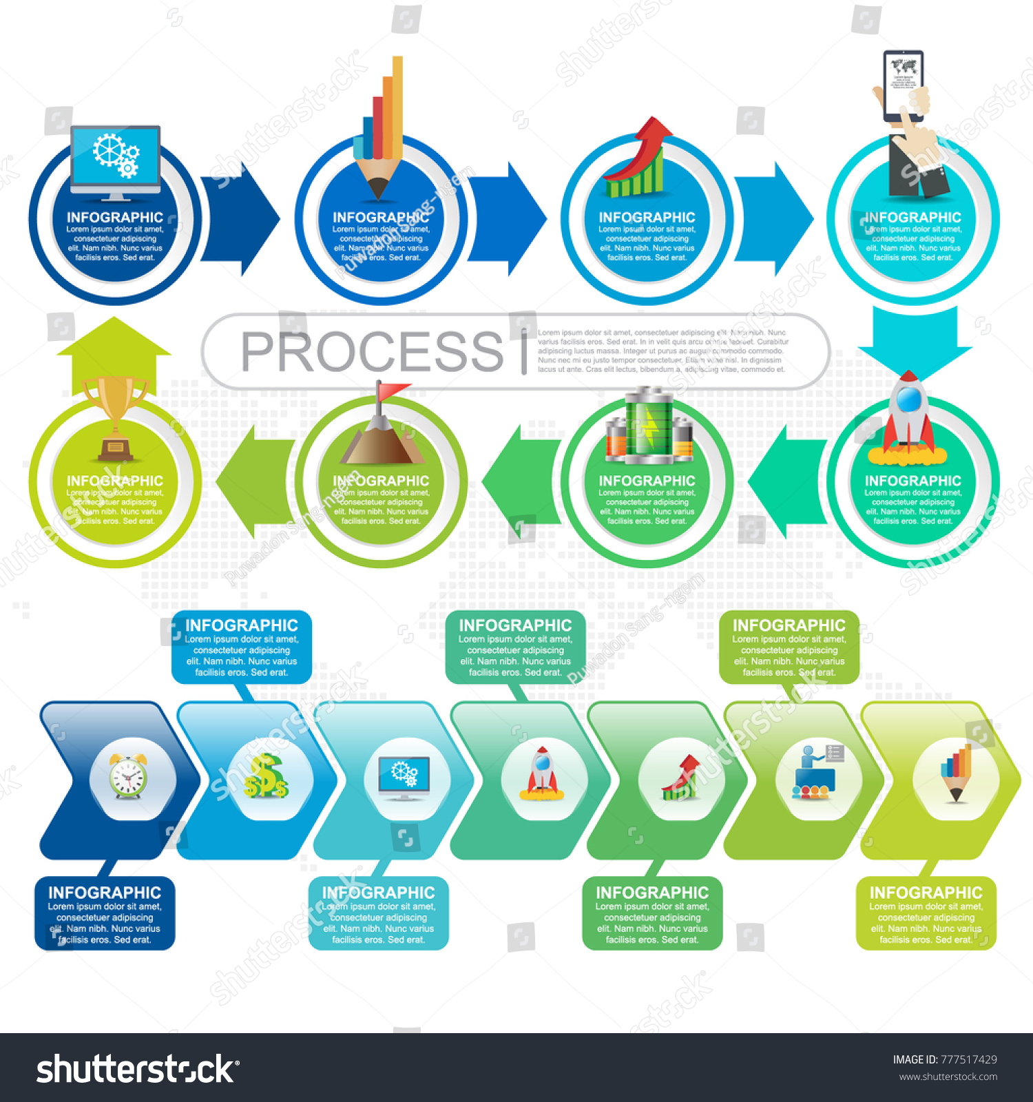 7 Parts infographic flow chart and marketing icons can be used for workflow  layout, diagram