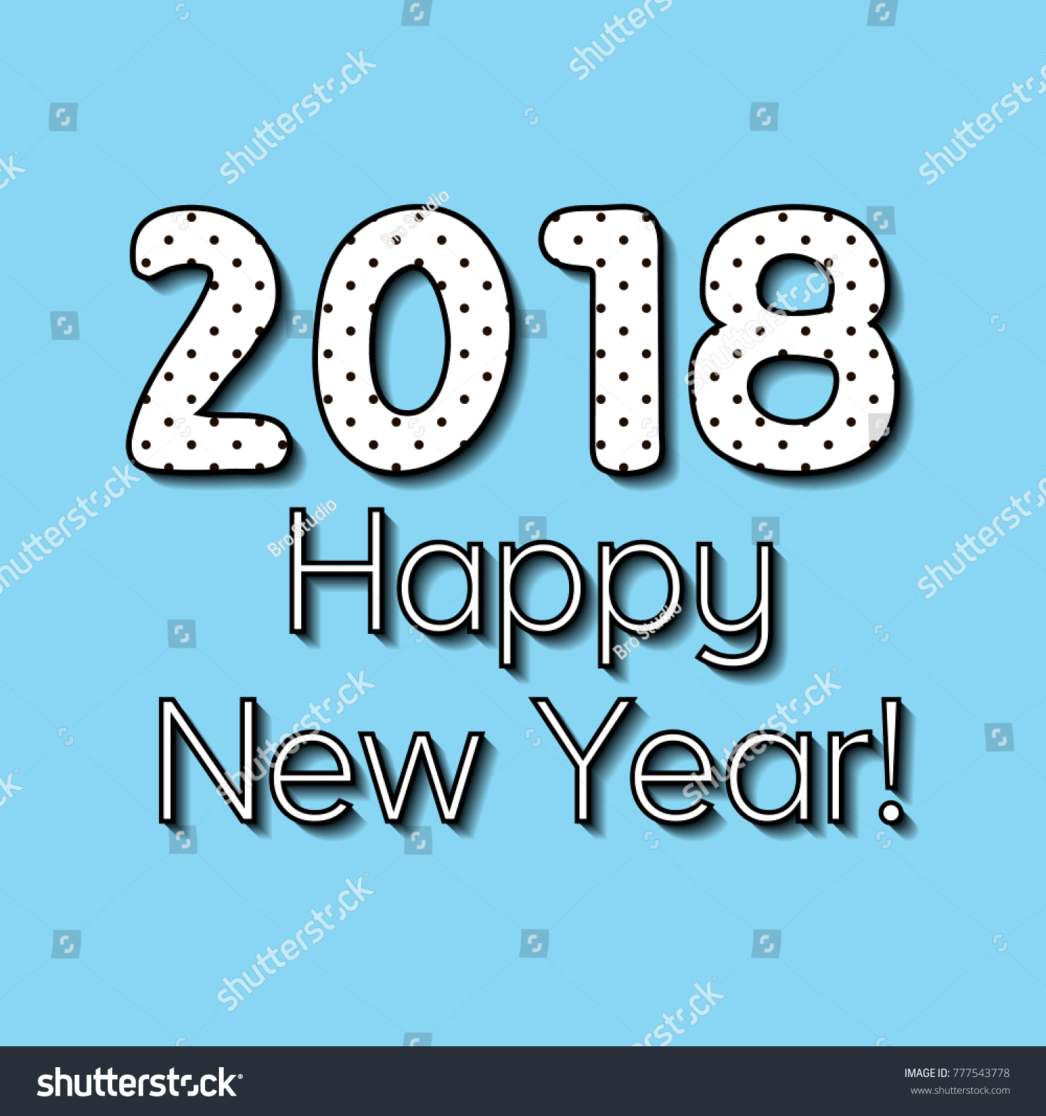 Simple greeting eve nye new year stock photo photo vector simple greeting eve nye new year 2018 the vector text the phrase the word m4hsunfo Image collections