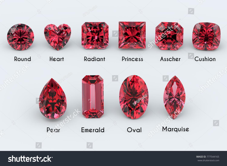 Ten Most Popular Diamond Cut Styles Stock Illustration 777544165 ...