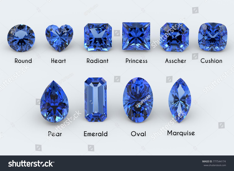 Ten Most Popular Diamond Cut Styles Stock Illustration 777544174 ...
