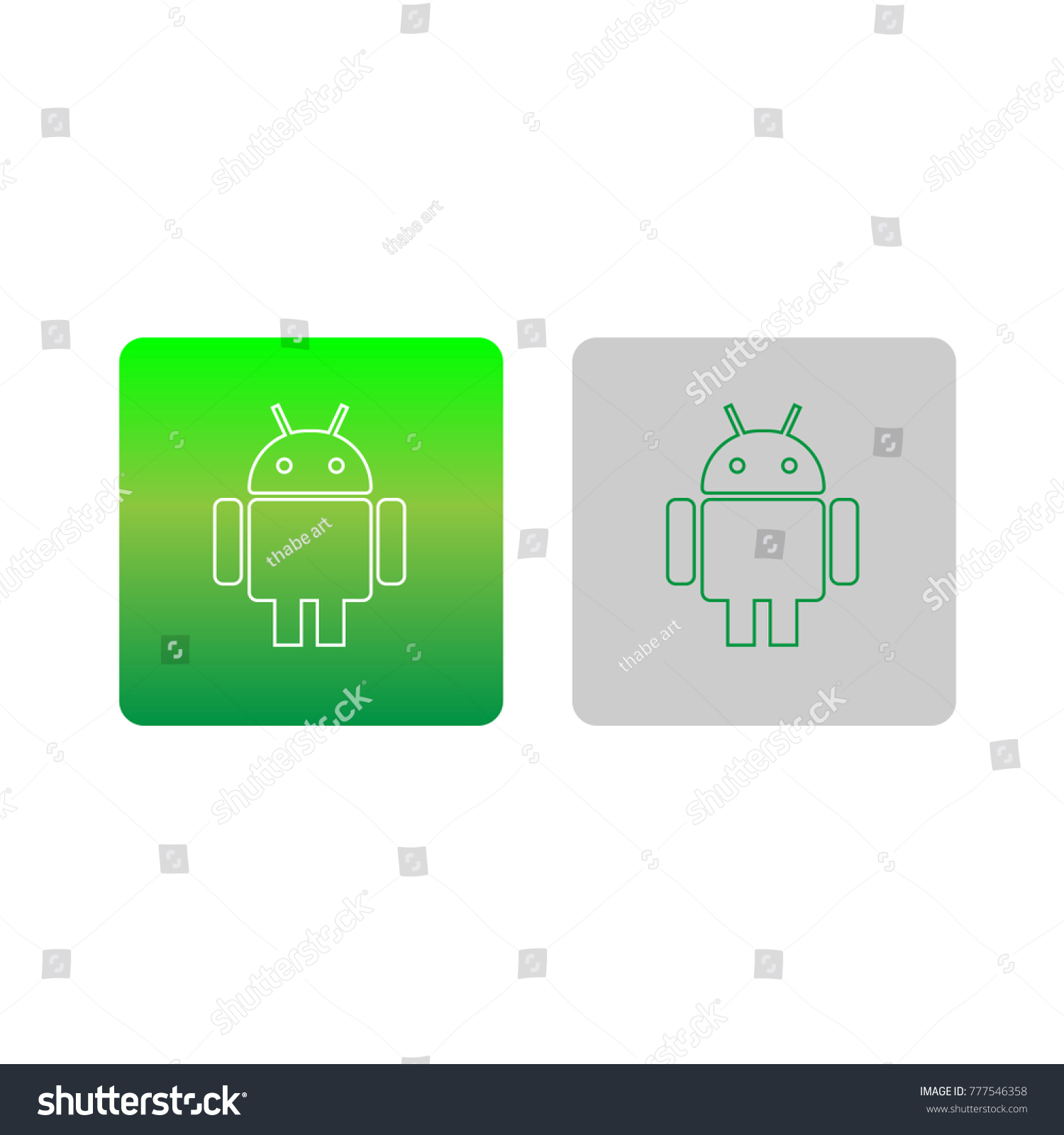 Icon Android Apps Vector Design Template Stock Vector (Royalty Free