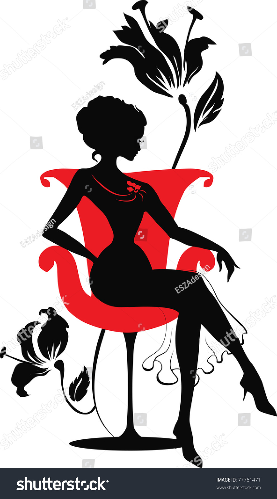 Lady Sitting Silhouette Images Stock Photos amp Vectors
