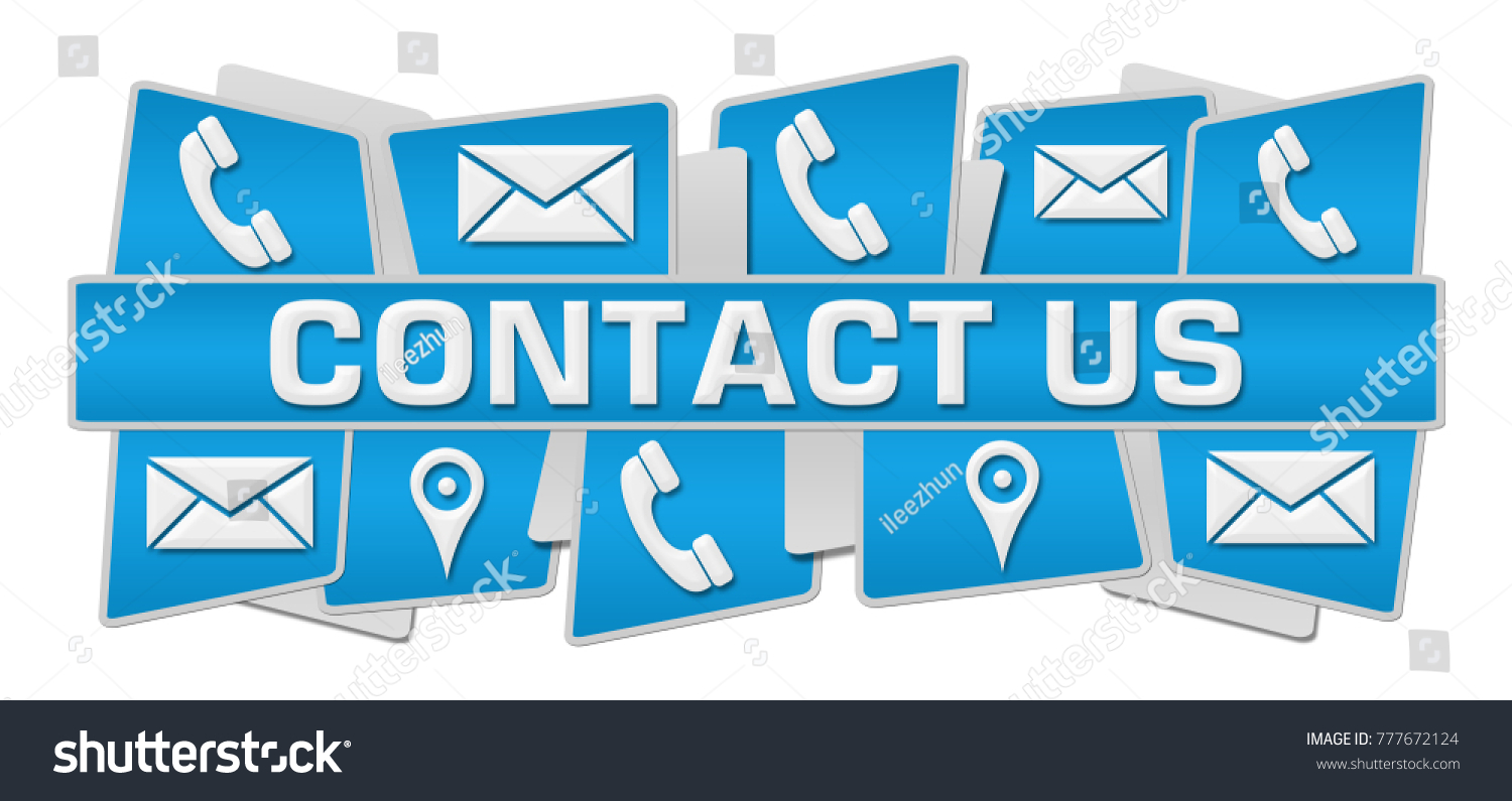 Contact Us Concept Image Text Related Stock Illustration 777672124