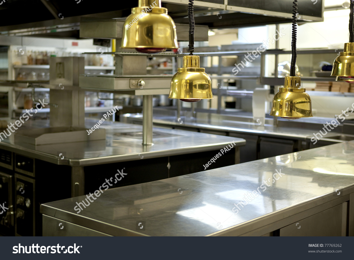 Exterior: Professional Kitchen In A Restaurant Stock Photo 77769262