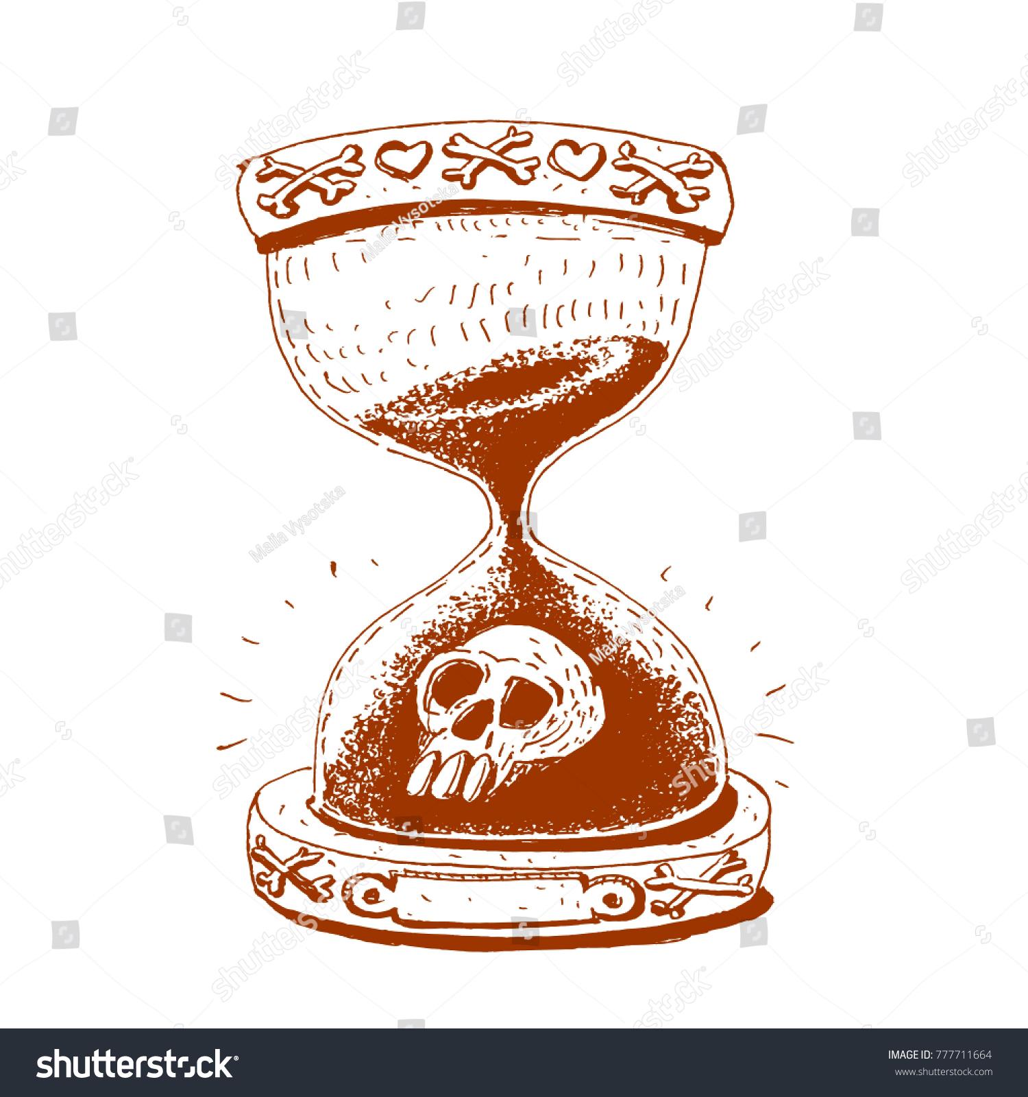 Hourglass Symbol Life Death Vector Illustration Stock Vector