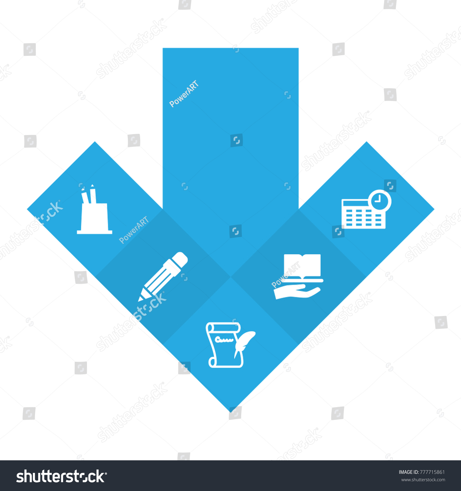 Set 5 School Icons Collection Pen Stock Vector Royalty Free Camera Diagram Schoolphysics Welcome Of Setcollection Holder Agreement Pencil And