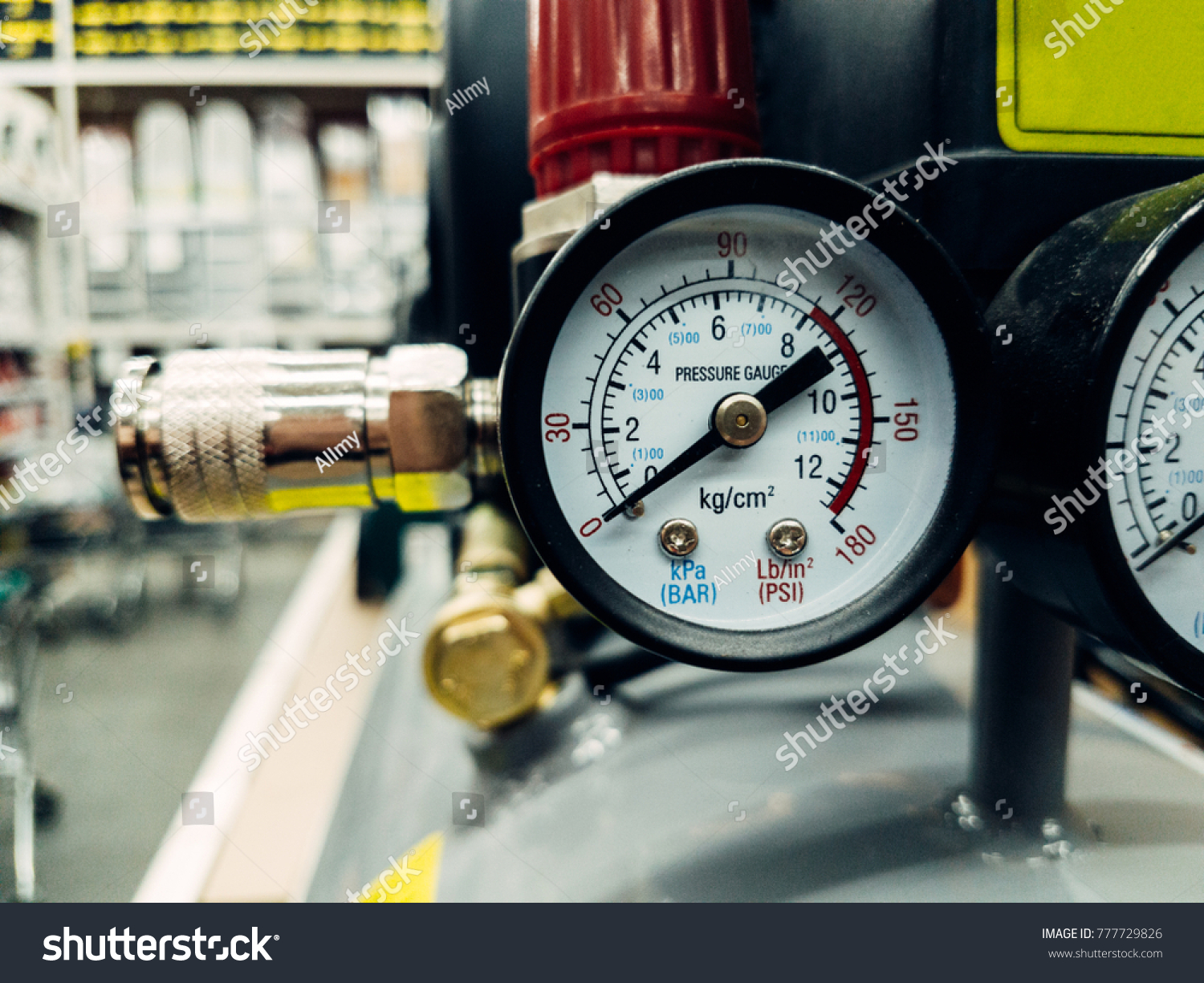 Air Compressor System Manometer Cable Gun Stock Photo 777729826 ...