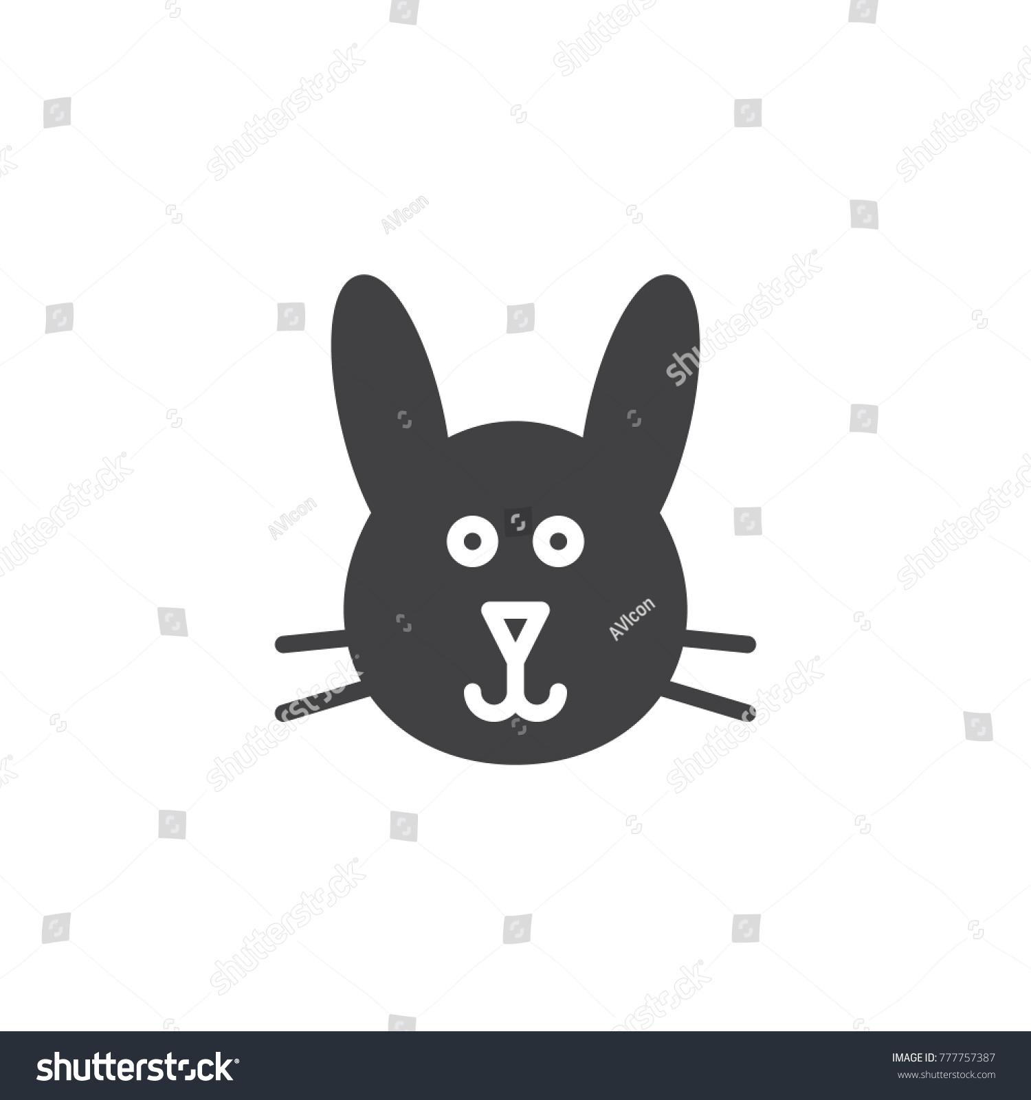 rabbit head symbol. vector illustration - eps 10 | EZ Canvas