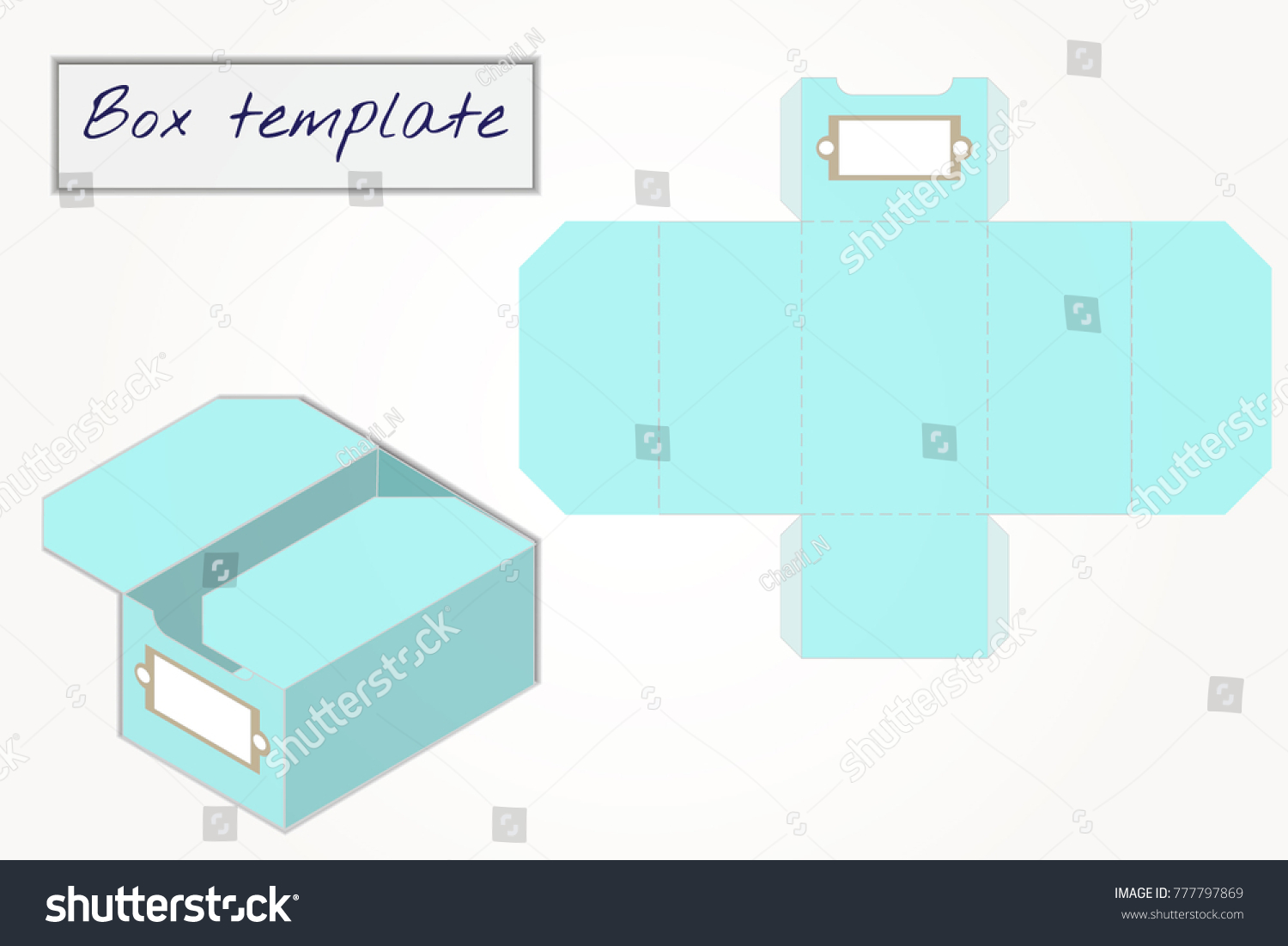 Gift Box Pattern Template Box Design Stock Vector Royalty Free