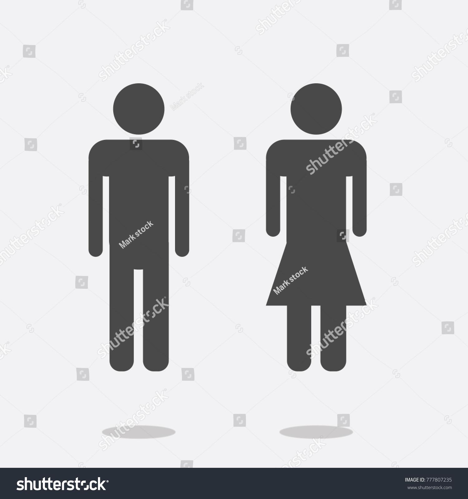 Man Woman Ladies Gentlemen Vector Icons Stock Vector Royalty Free
