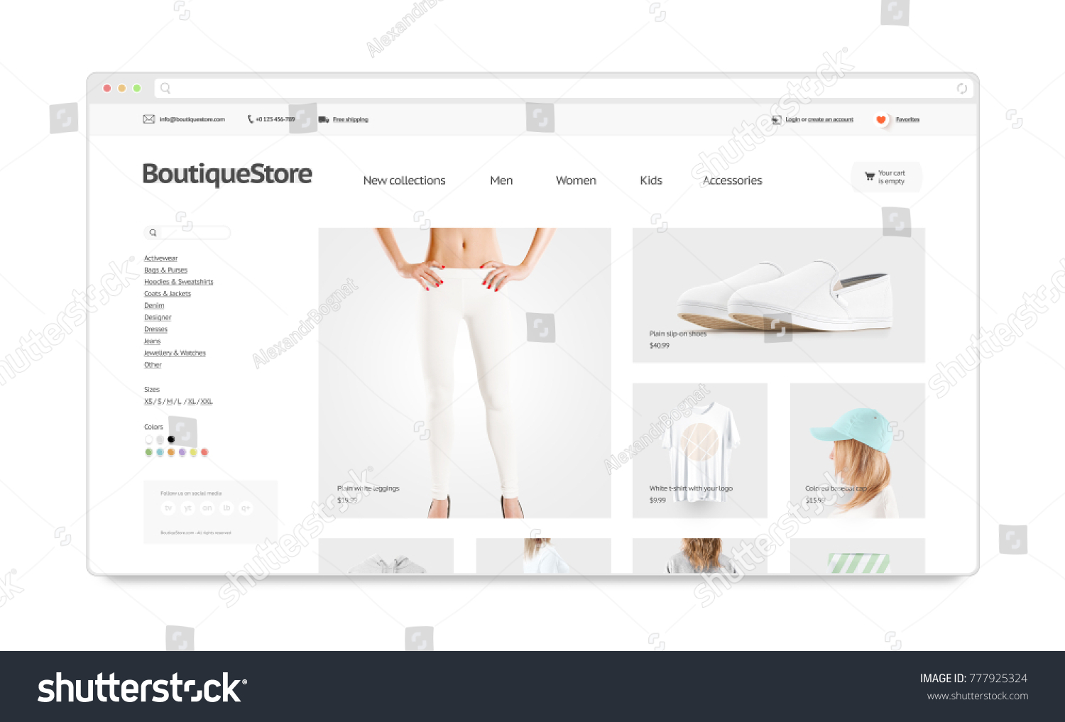 blank browser window mock fashion webのイラスト素材 777925324