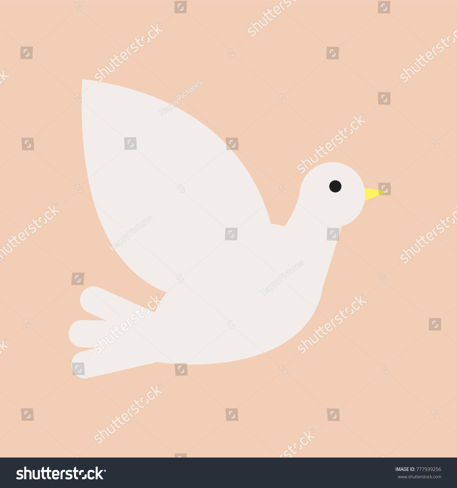 Christian white dove symbol holy spirit stock vector 777939256 christian white dove symbol of holy spirit and peace isolated flat vector icon biocorpaavc