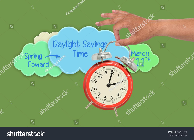 spring forward daylight savings time 2 stock photo edit now