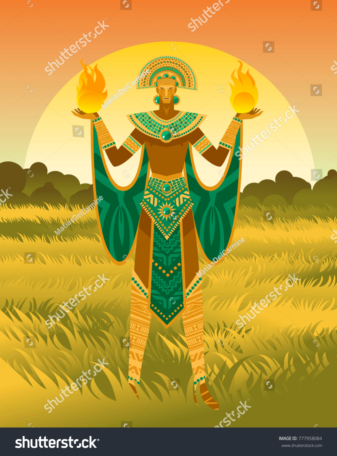 Inti Inca God Sun Stock Vector Royalty Free 777958084 Shutterstock