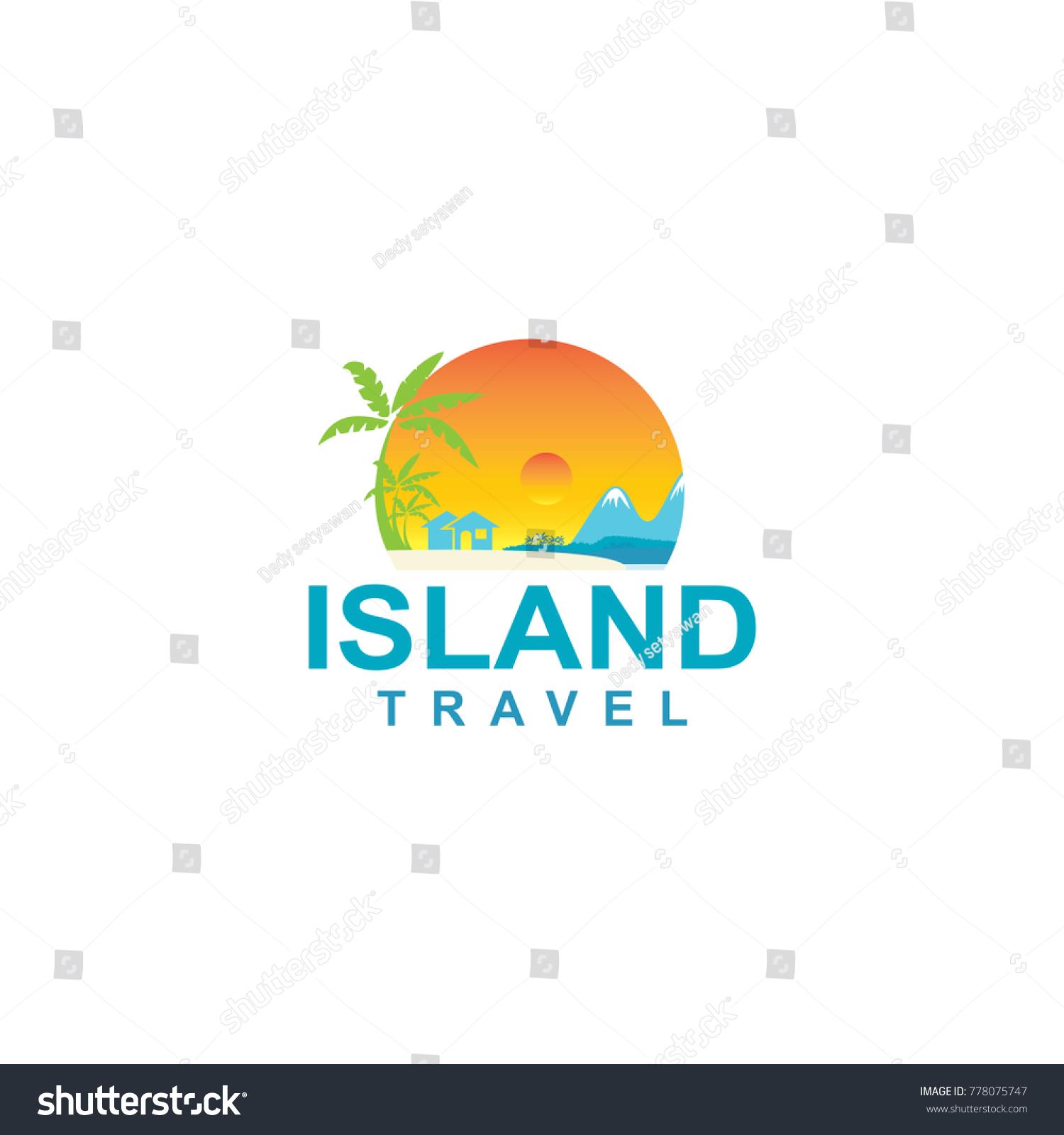 Island Logo Beachfront Housing Stock Vector (Royalty Free) 778075747