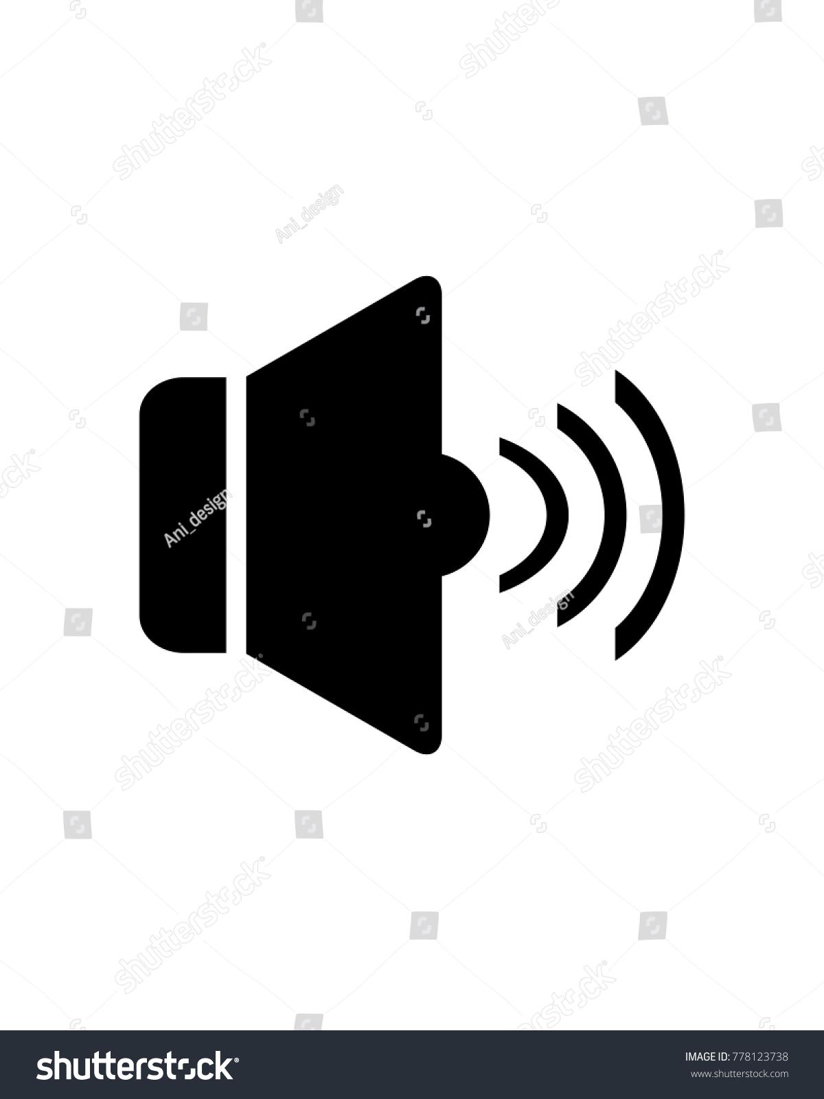 Speaker Icon Logo Vector Stock Vector 778123738 - Shutterstock