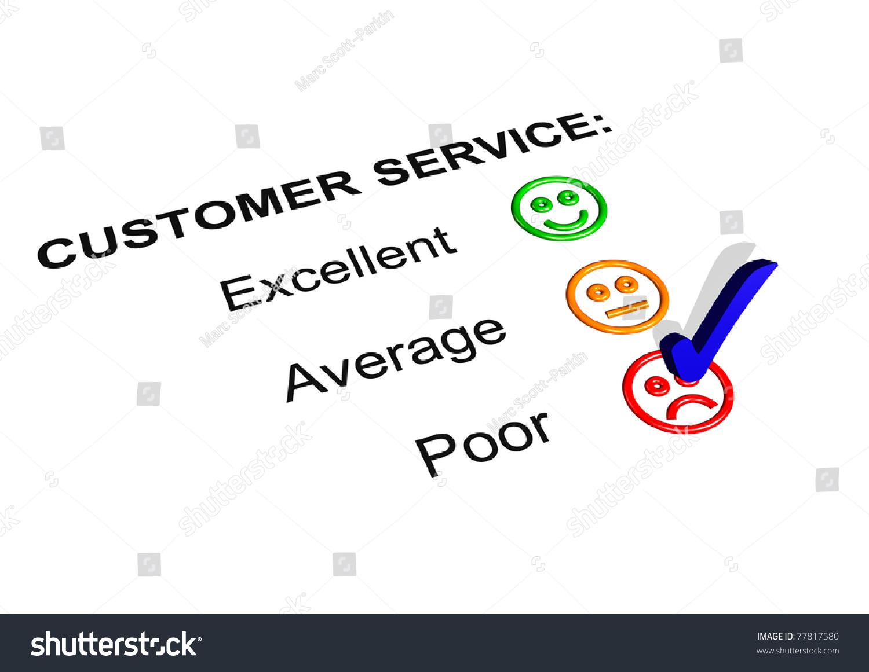 Customer Service Feedback Form Showing Poor Illustration – Service Feedback Form