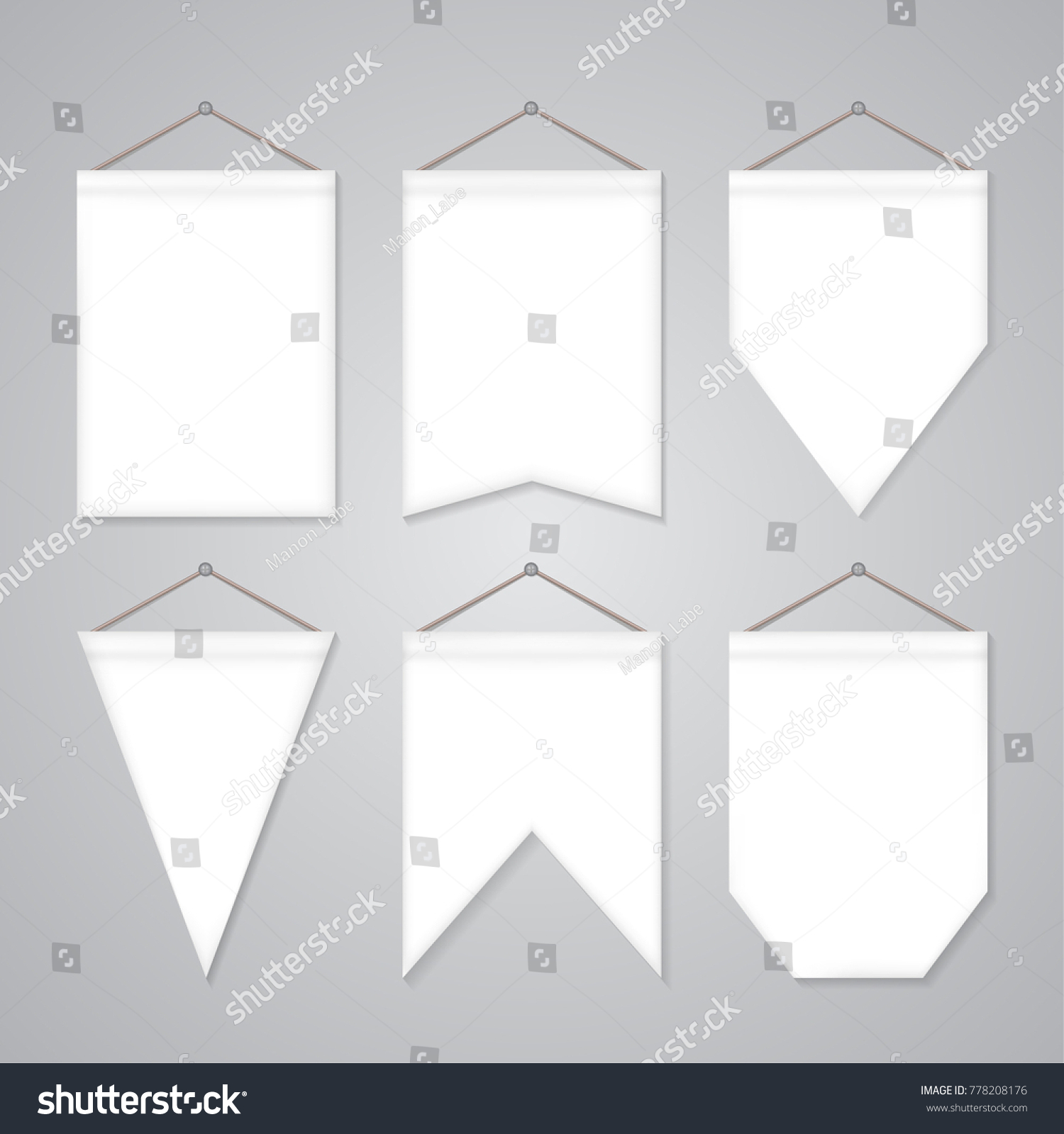 Beautiful pennant templates images resume ideas namanasa white pennant templates vector set empty stock vector 778208176 pronofoot35fo Images