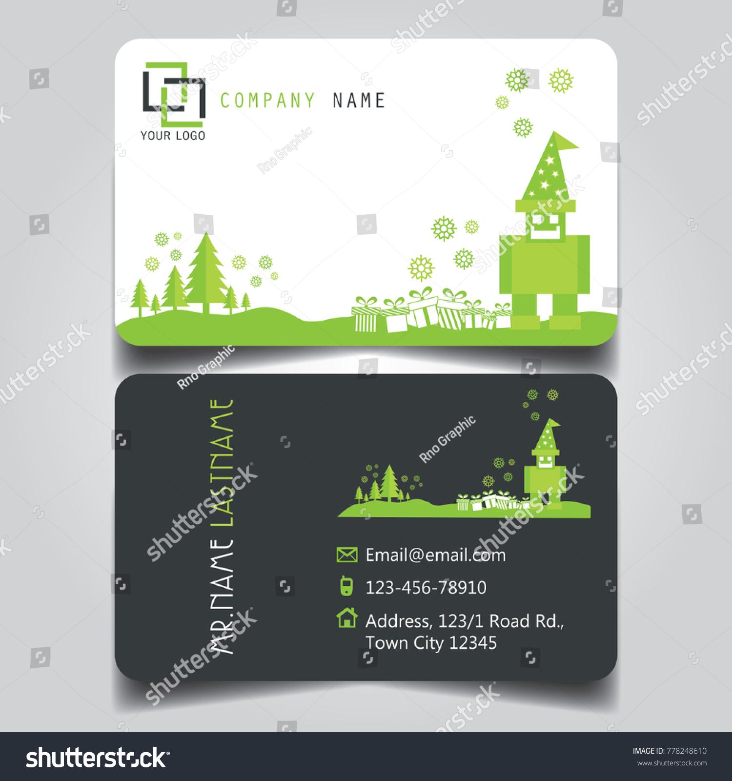 Christmas Green White Black Theme Creative Stock Vector (Royalty ...