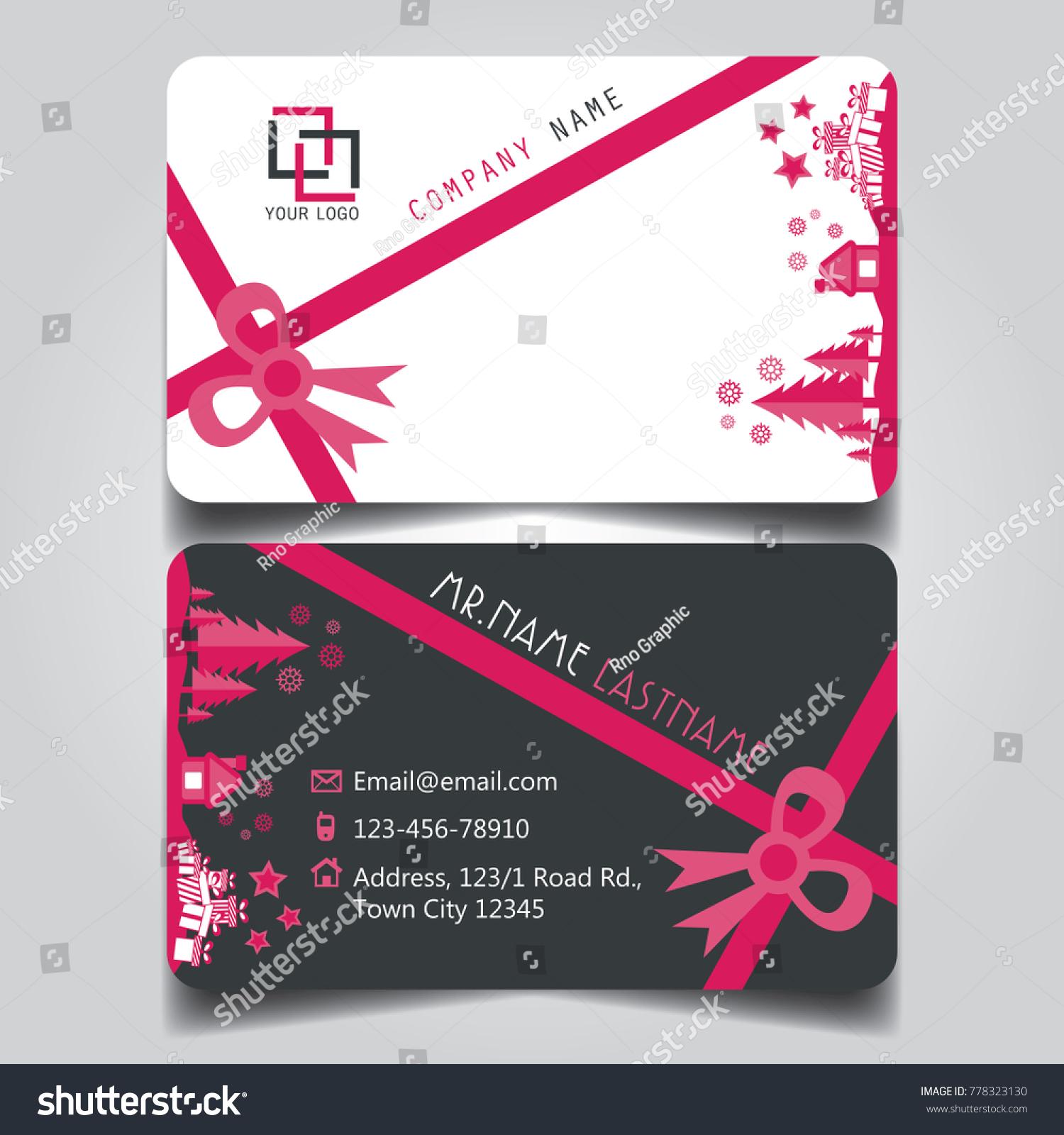Christmas Pink White Black Theme Creative Stock Vector 778323130 ...