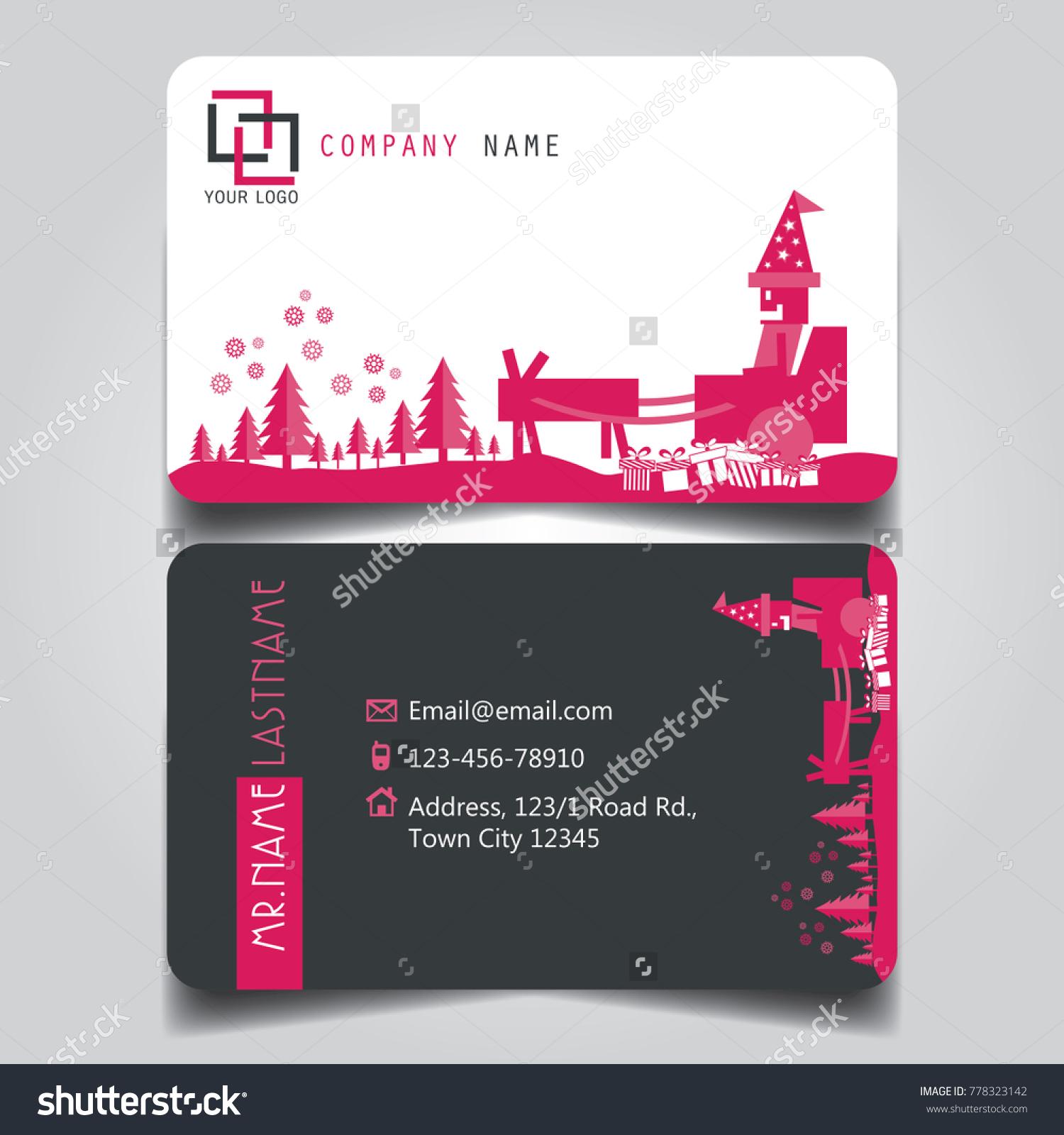Christmas Pink White Black Theme Creative Stock Vector 778323142 ...