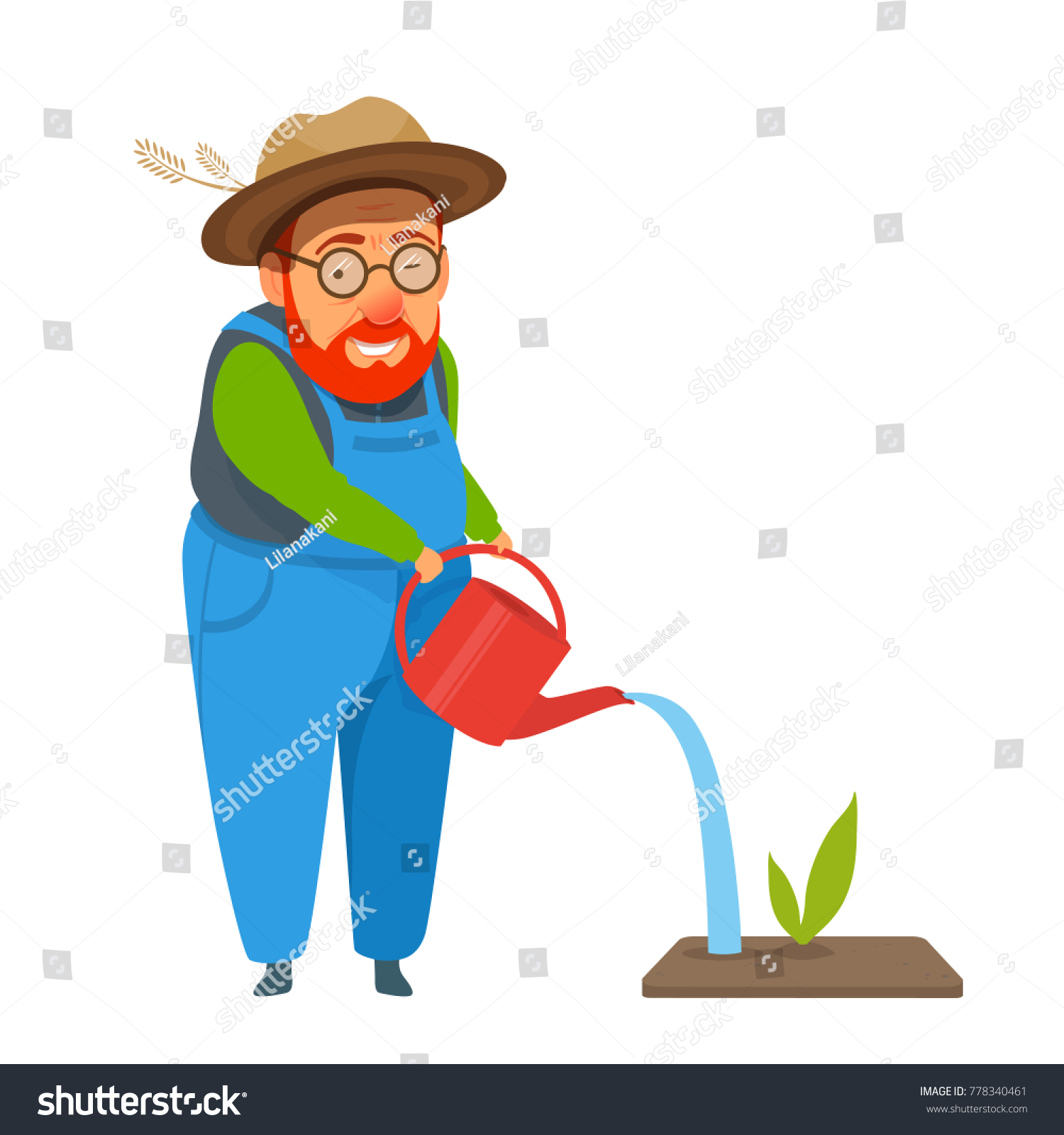 Boy Watering The Plant Illustration Royalty Free Cliparts, Vectors, And  Stock Illustration. Image 53041649.