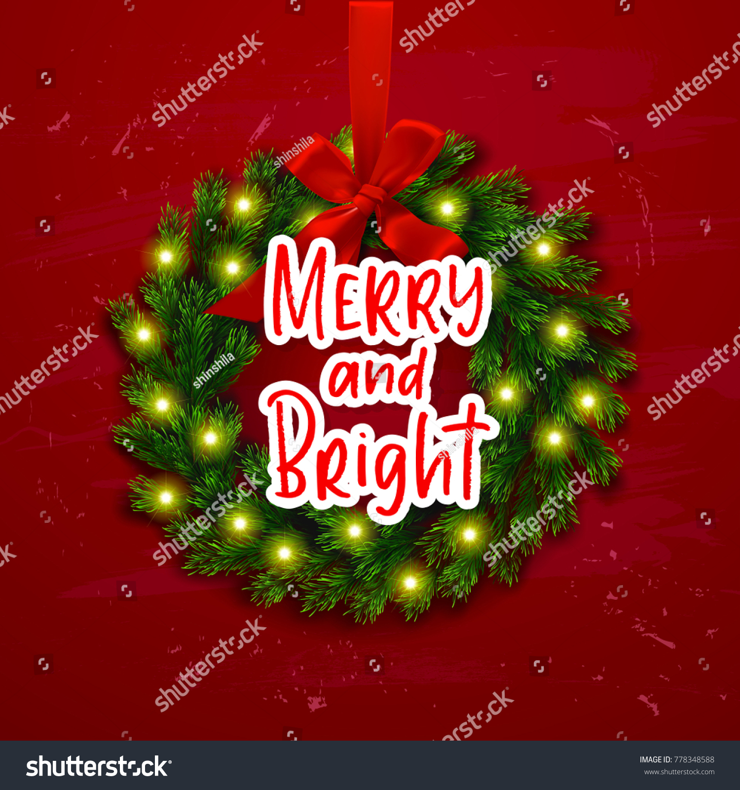 Christmas Greeting Card Happy New Year Xmas Vector Background