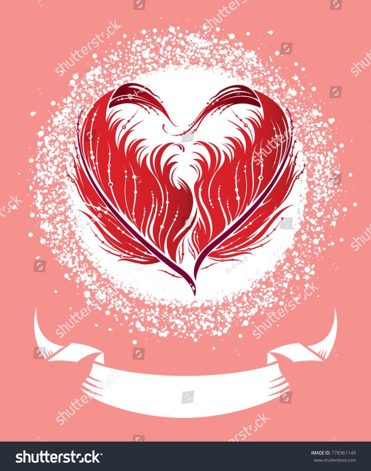 Valentines Day Wedding Invitation Design Cute Stock Vector 778361149 ...