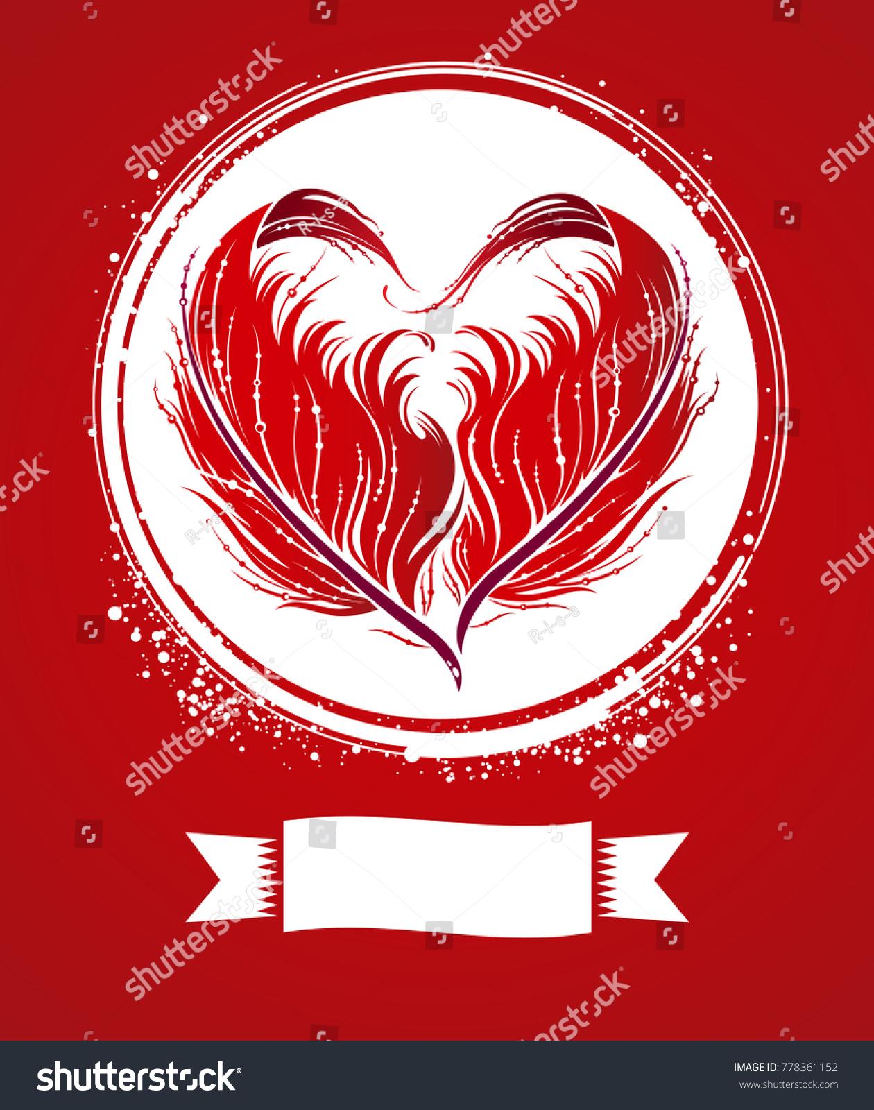 Valentines Day Wedding Invitation Design Cute Stock Photo (Photo ...