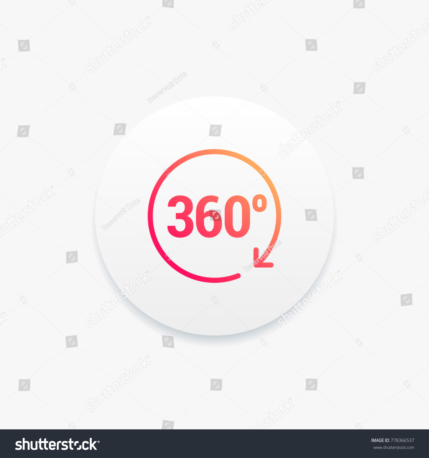 360 Degrees Angle Icon Stock Vector Royalty Free 778366537 In A Circle Diagram