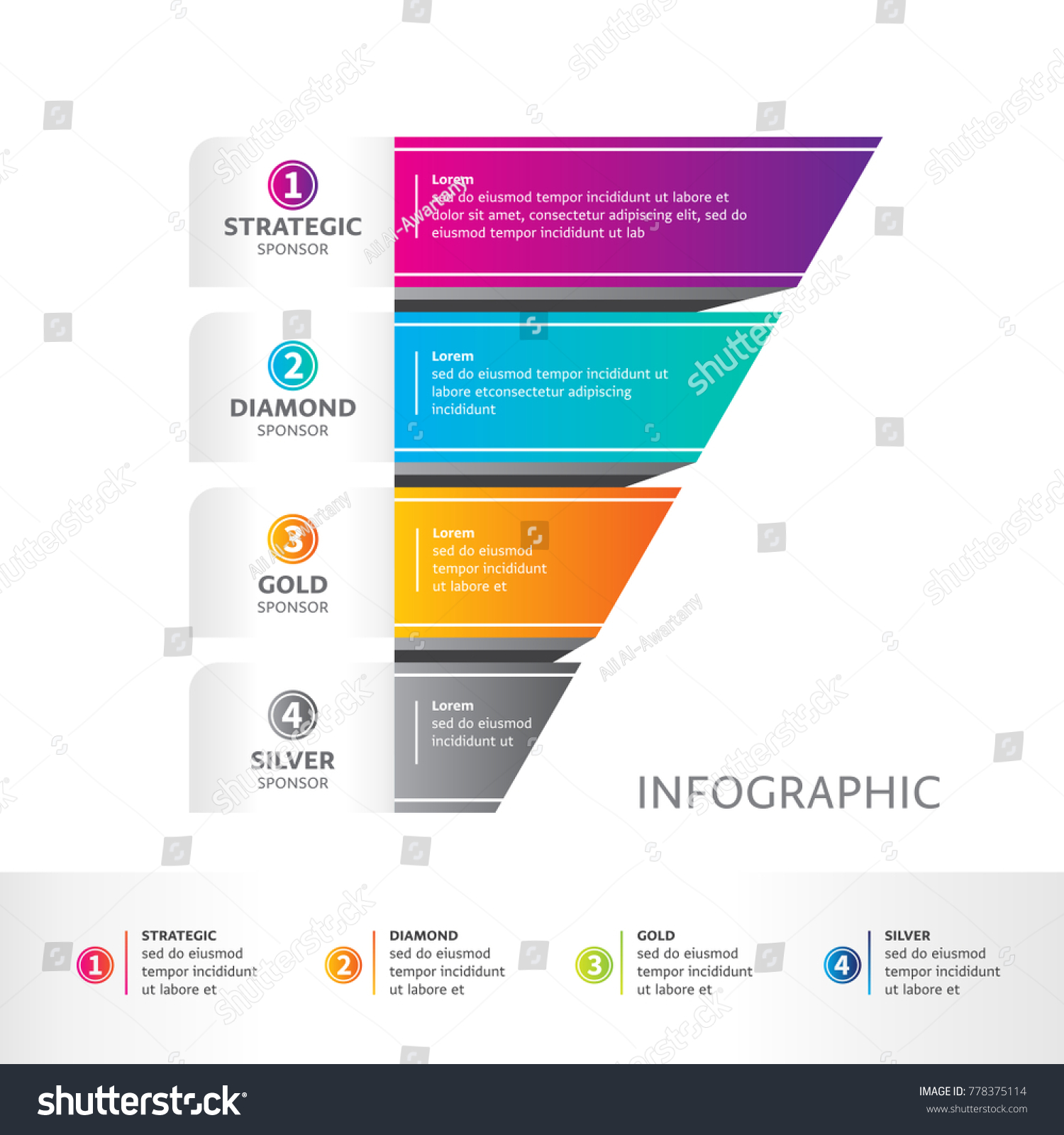 Sponsorship Packages Abstract Infographics Number Options Stock ...