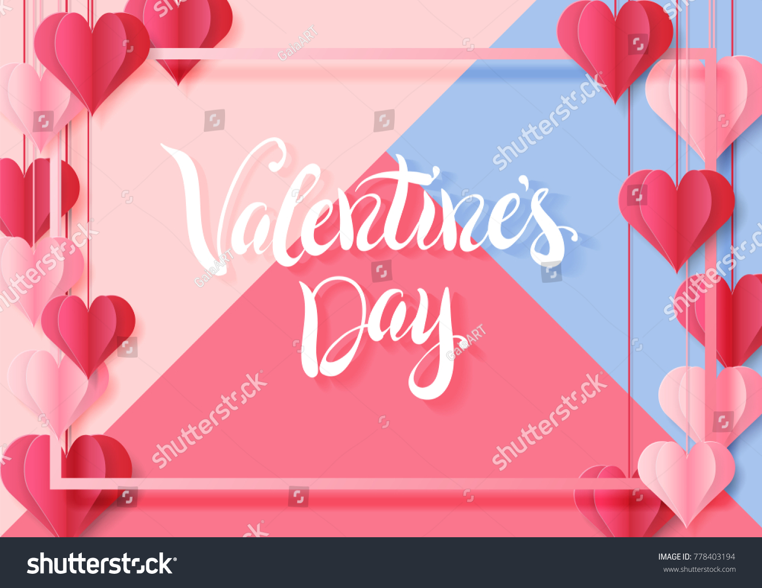 Happy valentines day design greeting card stock vector 778403194 happy valentines day design for greeting card can be used on banners or web kristyandbryce Choice Image