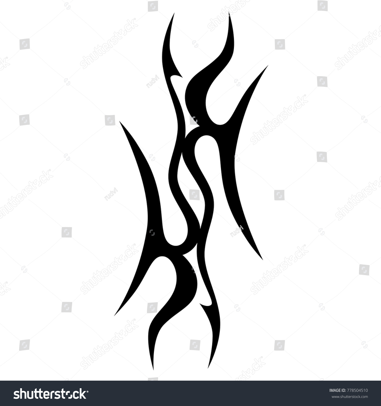 Tattoo Art Designs Ideas Tribal Tattoos Stock Vector 778504510 ...