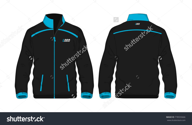 Sport Jacket Blue And Black Template For Design On White Background Vector Illustration Eps 10