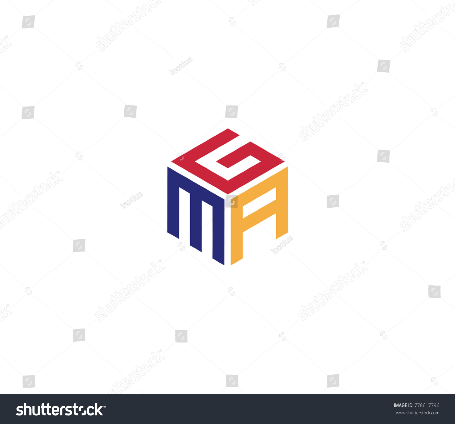 three letters logo design clipart vector labs