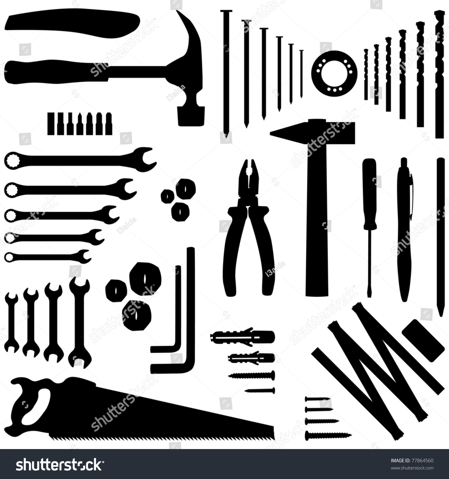 Dyi Tool - Silhouette Illustration - 77864560 : Shutterstock