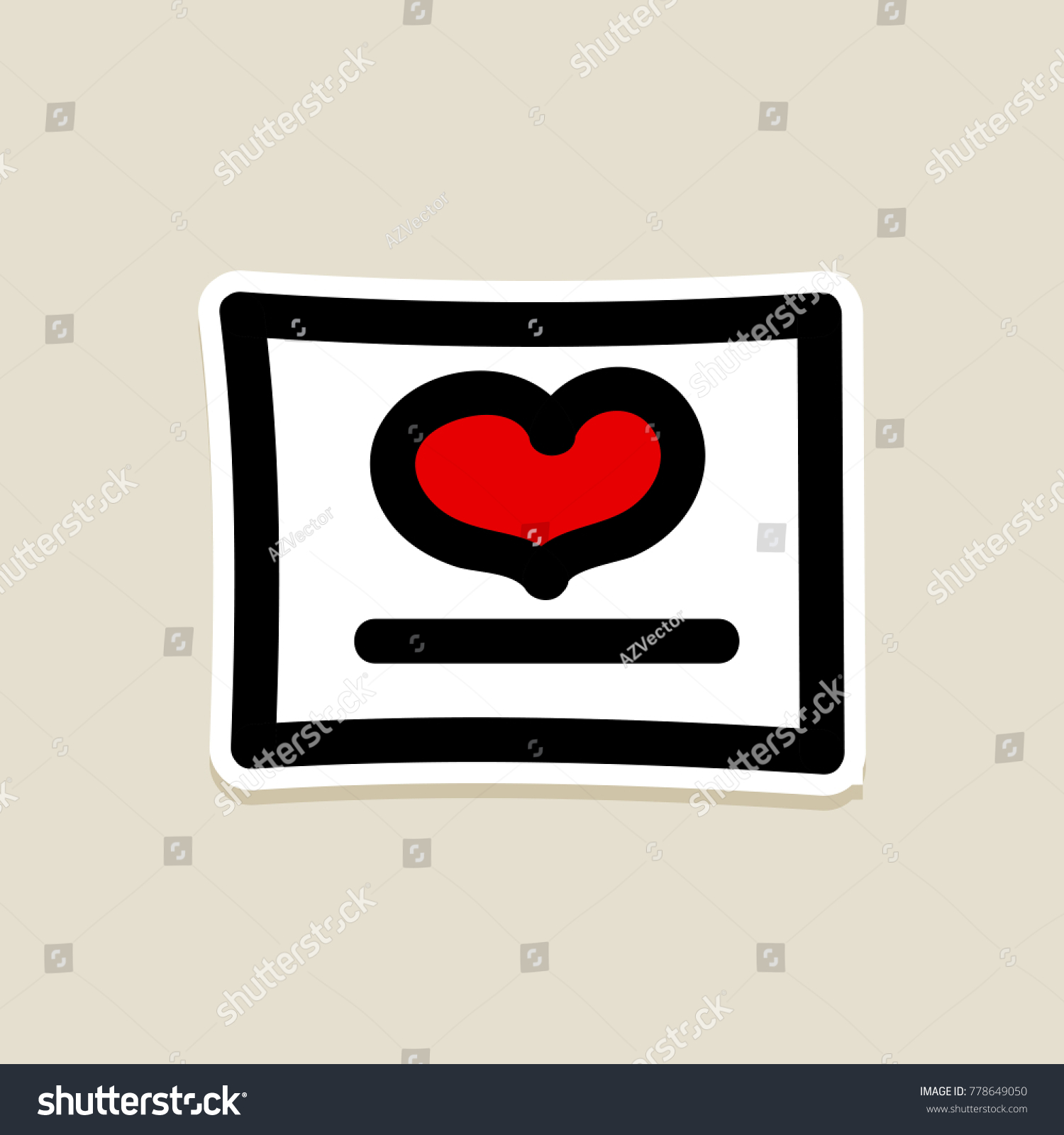 Love heart romantic greeting card valentines stock vector royalty love heart romantic greeting card valentines day valentines day icon doodle hand drawn m4hsunfo