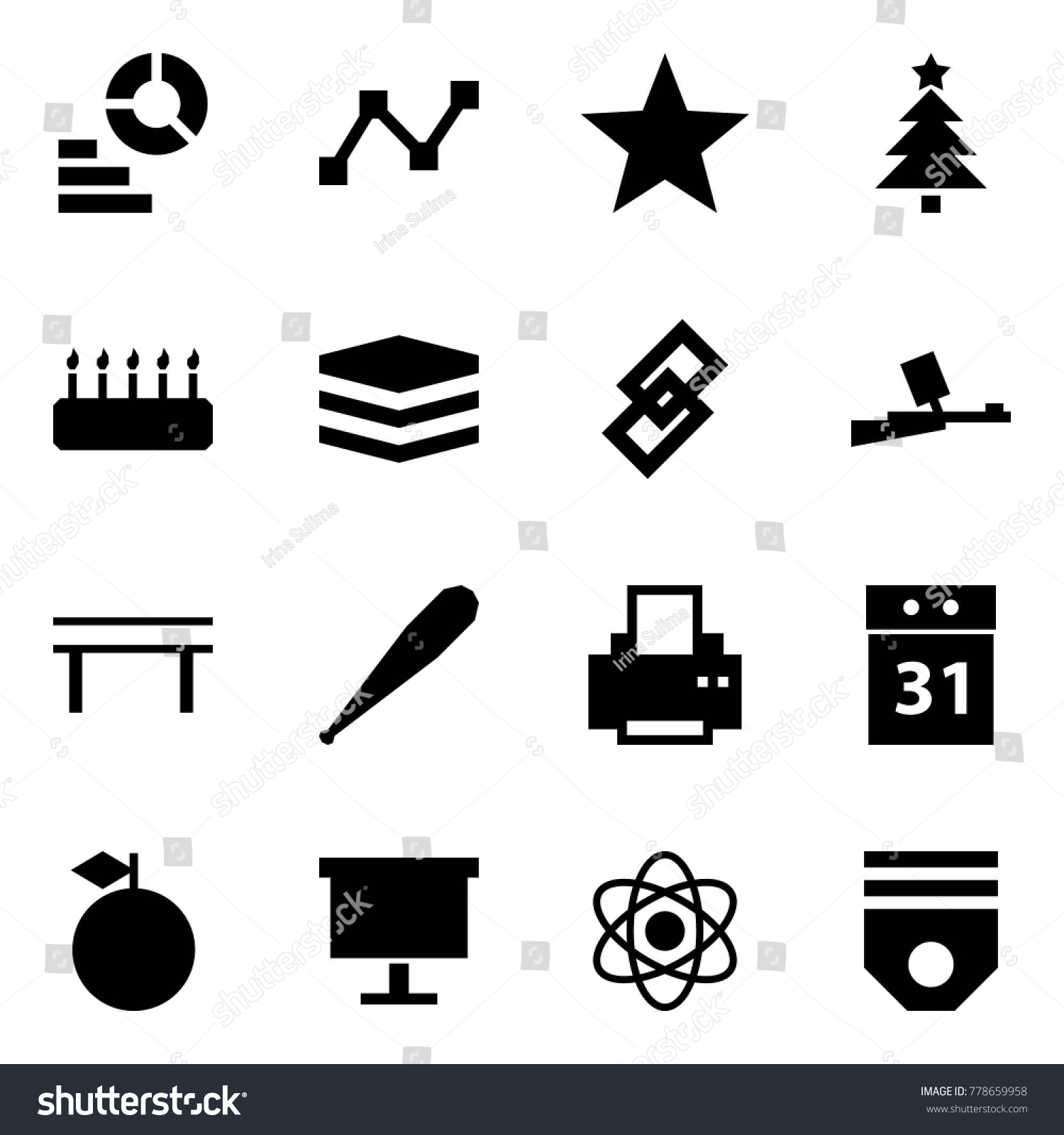 Origami style icon set diagram vector stock vector 778659958 origami style icon set diagram vector graph favorites christmas tree cake pooptronica Images