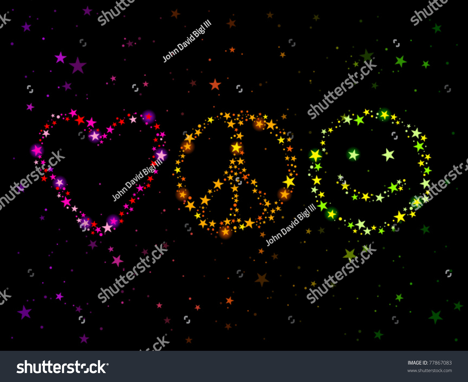 Constellations forming love peace happiness symbols stock vector constellations forming love peace and happiness symbols biocorpaavc Image collections