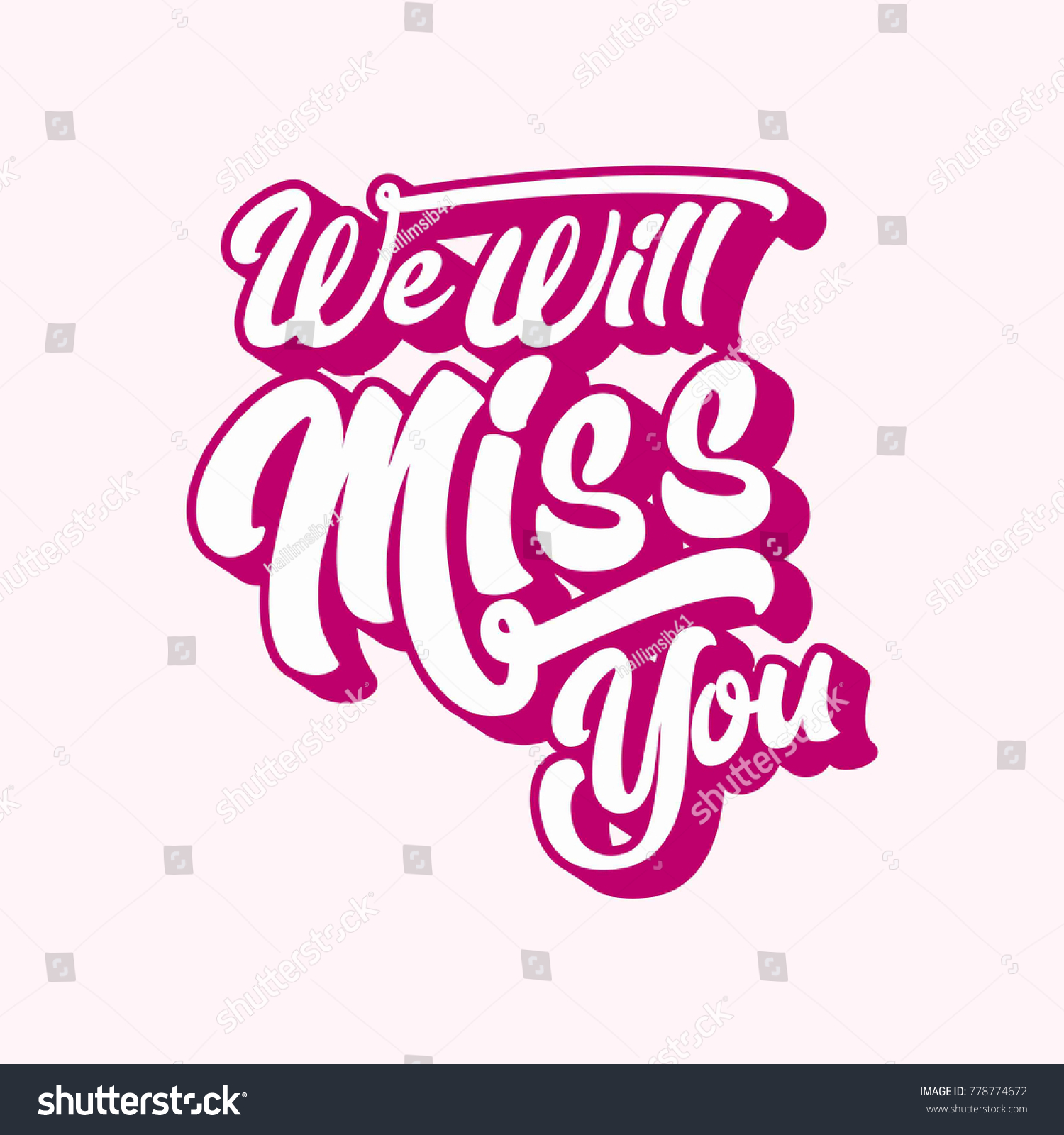 Farewell Party Template We Will Miss Stock Vector 778774672 ...