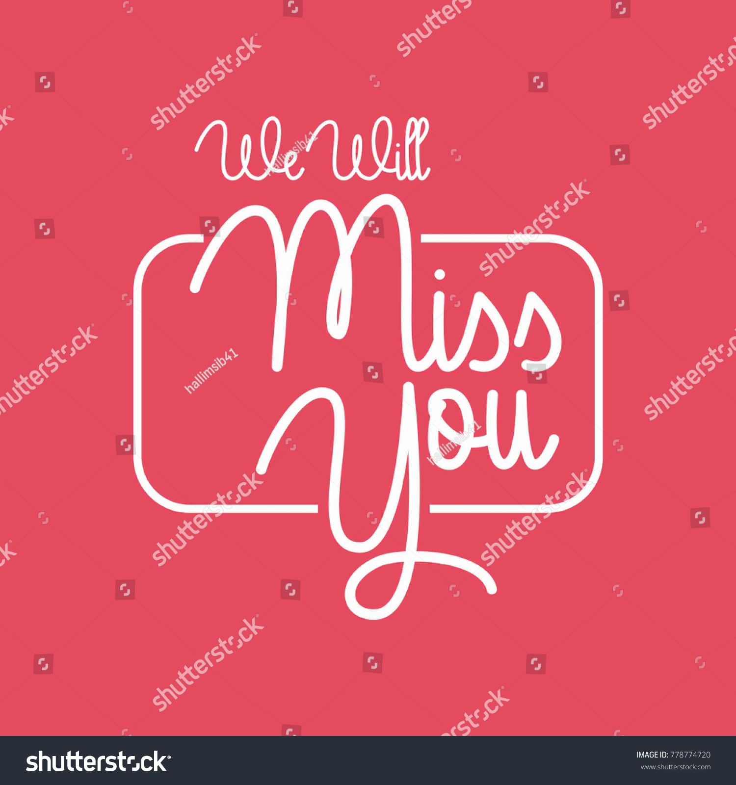 Farewell Party Template We Will Miss Stock Vector (Royalty Free ...