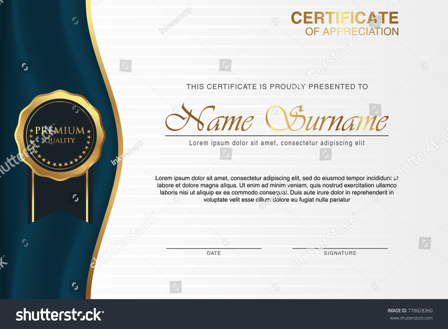 Multipurpose Professional Certificate Template Design Print Stock ...