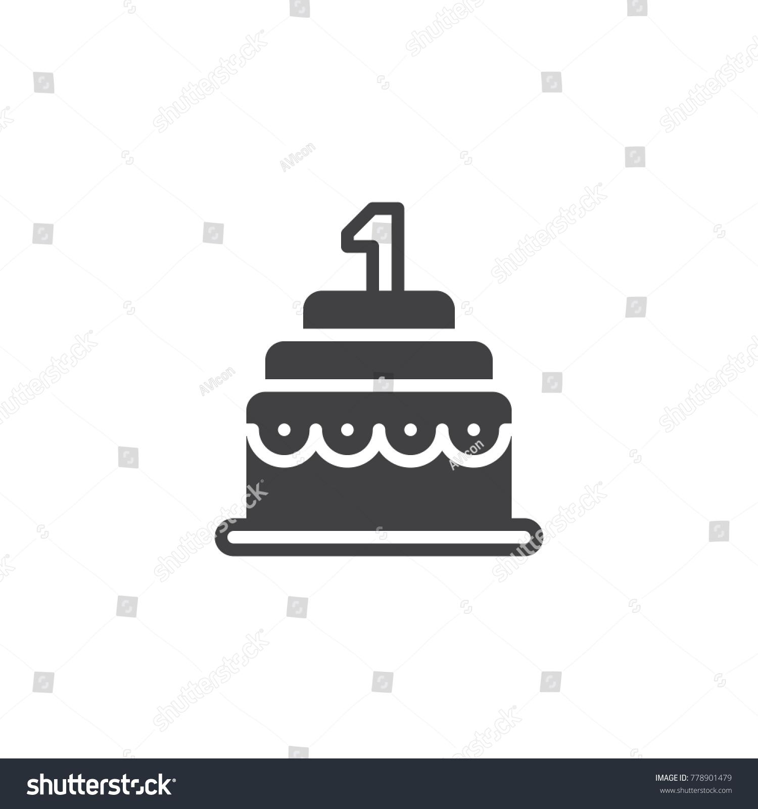Birthday cake icon vector filled flat stock vector 778901479 birthday cake icon vector filled flat sign solid pictogram isolated on white symbol buycottarizona